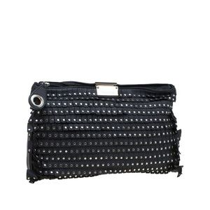 Jimmy Choo Black Lambskin studded Zulu clutch